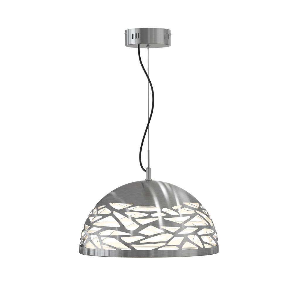 Main Avenue 25-Watt Satin Nickel Integrated LED Pendant