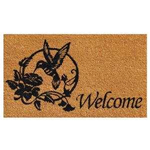 Home & More Hummingbird Welcome Door Mat 17 inch x 29 in. by Home & More