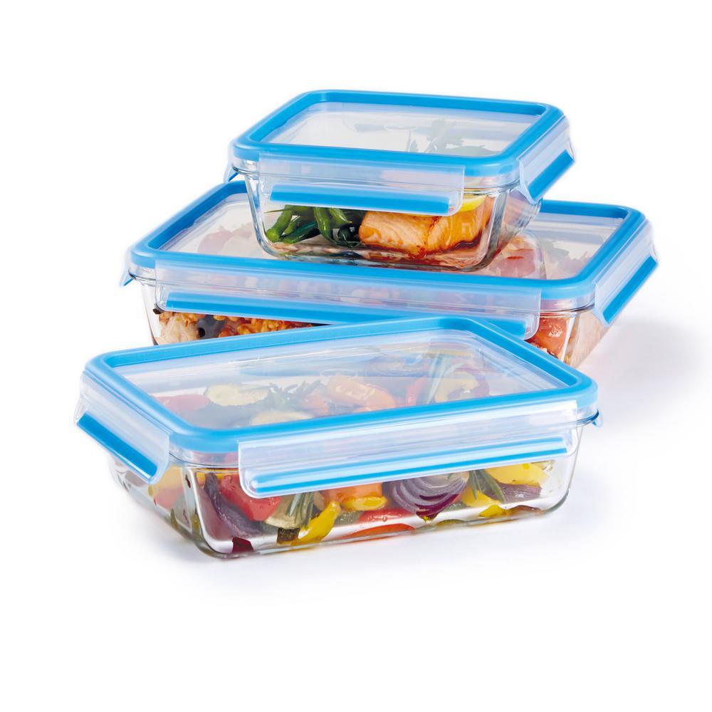 Fresh 6-Piece Glass Food Storage Container Set