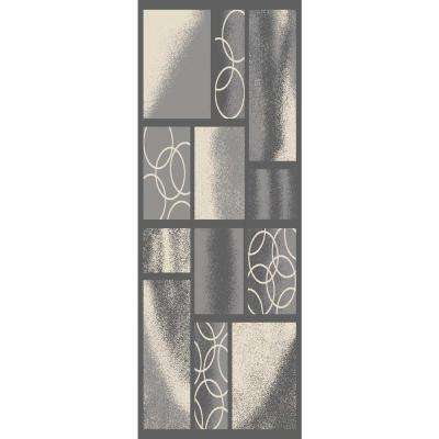 Hamam Collection Grey 2 ft. x 7 ft. Runner Rug