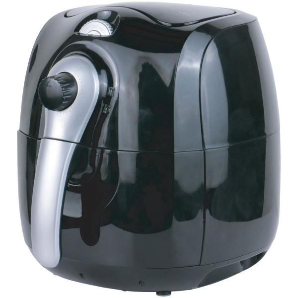 3.7 Qt. Black Air Fryer With Timer and Temperature Control