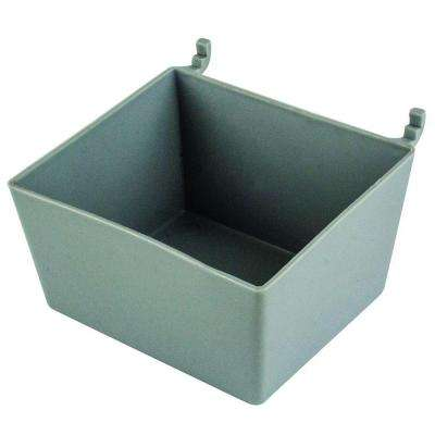 Plastic Peg Utility Bin in Gray