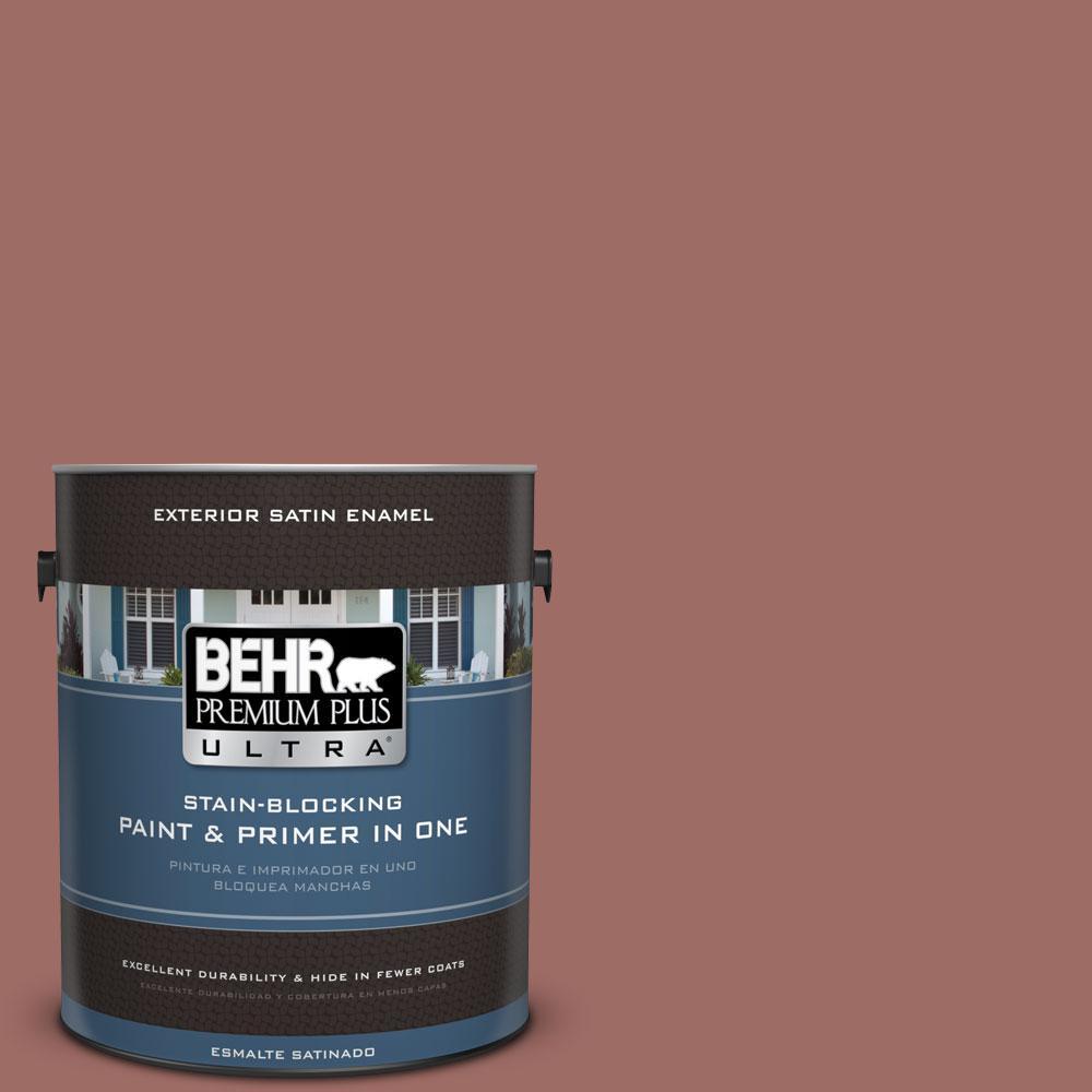 BEHR Premium Plus Ultra 1-gal. #190F-5 Brandy Satin Enamel Exterior Paint