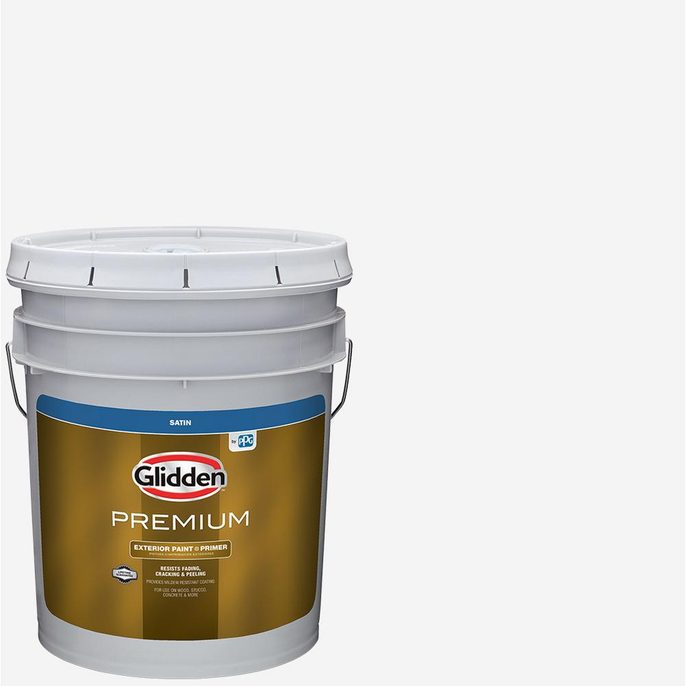 Glidden Premium 5 Gal Satin Latex Exterior Paint Gl6911 05 The Home Depot