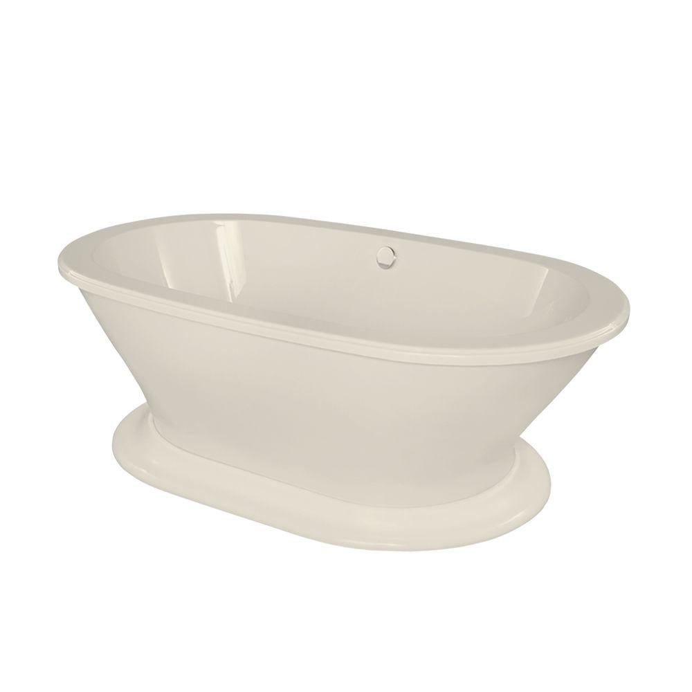 Columbia 5.8 ft. Acrylic Center Drain Freestanding Oval Air Bath Tub