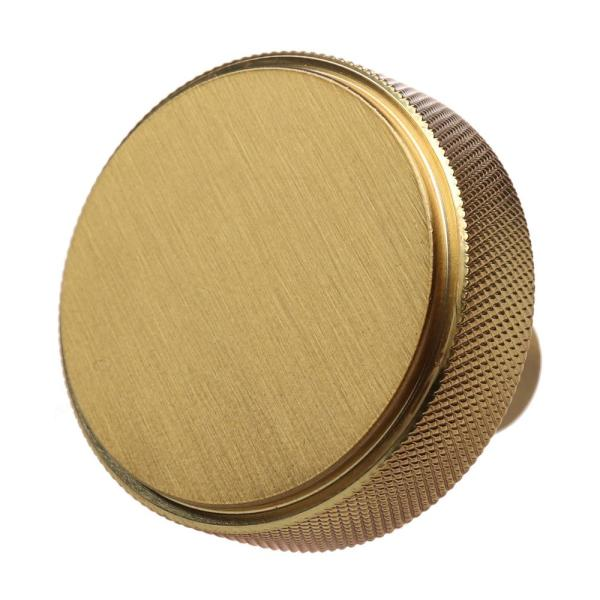 Gliderite 1 1 2 In Satin Gold Solid Round Knurled Cabinet Drawer Knobs 10 Pack 5825 Sg 10 The Home Depot