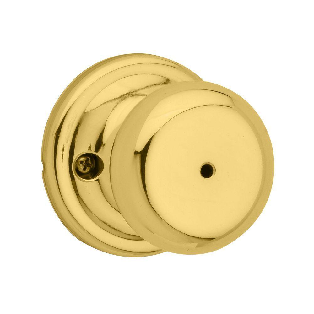 Kwikset 730J 3 CP Juno Bed//Bath Knob Polished Brass