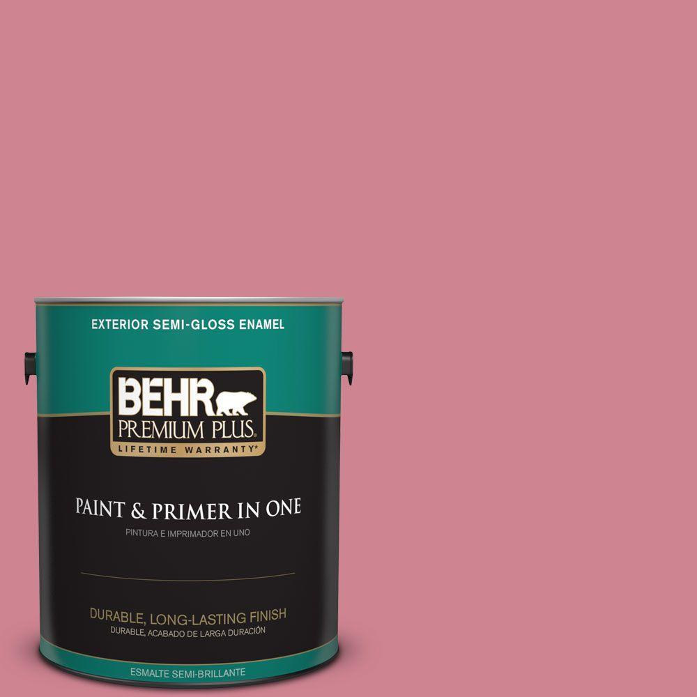 1-gal. #130D-4 Rose Sachet Semi-Gloss Enamel Exterior Paint