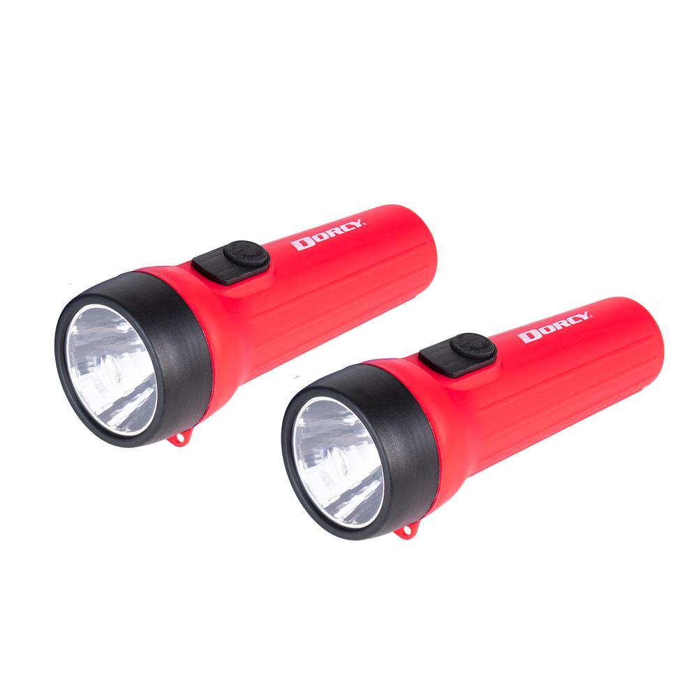 LED Flashlight in Black/Red (2-Pack)