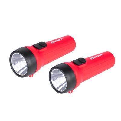 LED Flashlight in Black/Red (2-Pack)