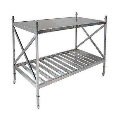 30 in. Silver Metal Glass Table