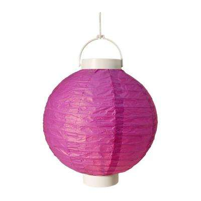 Battery Operated Paper Lantern in Purple (3-Count)