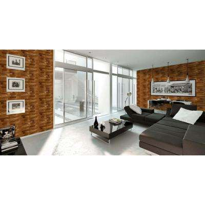 New York Vanilla Wood Peel and Stick 3D-Effect Self Adhesive DIY Wallpaper