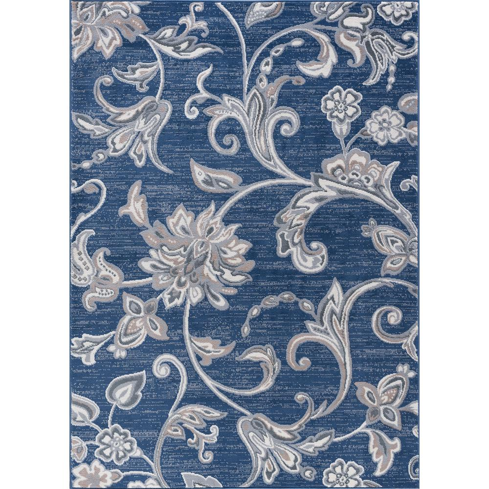 Tayse Rugs Madison Navy 8 Ft X 10 Ft Area Rug Mdn3507