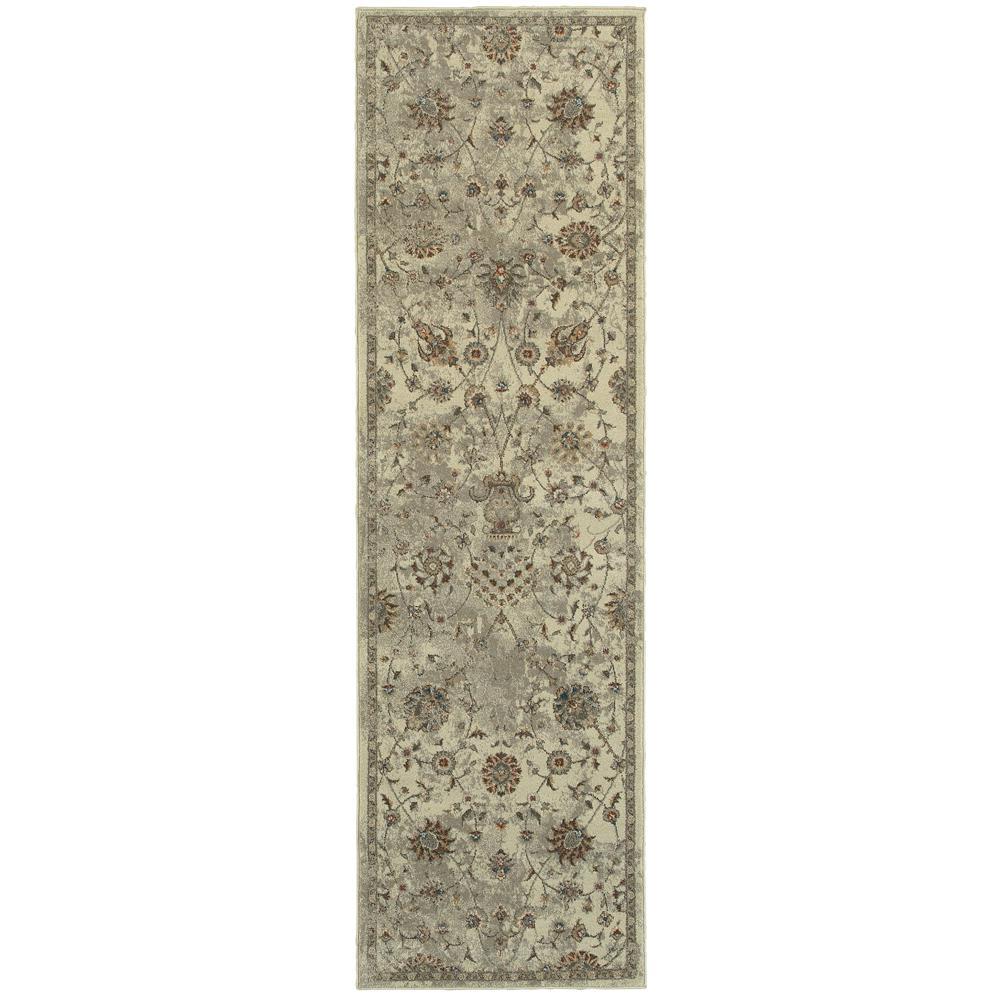 Home Decorators Collection Carver Beige 2 ft. x 8 ft. Runner Rug
