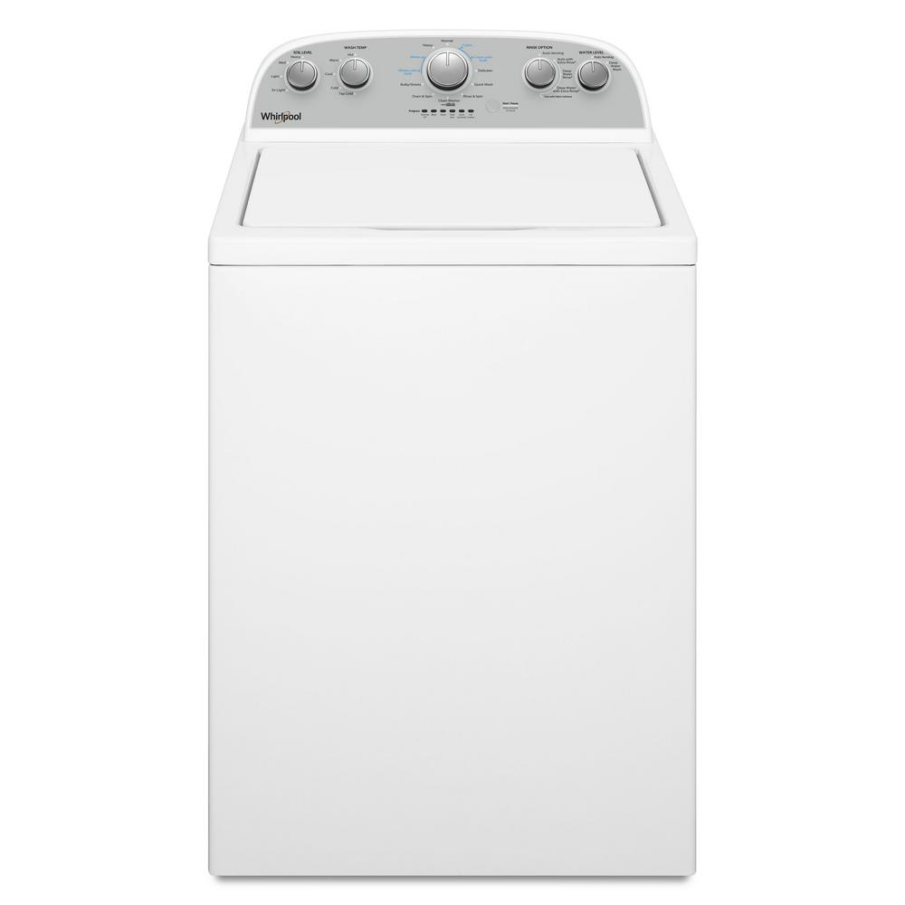 Whirlpool 3 8 cu  ft  High-Efficiency White Top Load Washing Machine with  Soaking Cycles