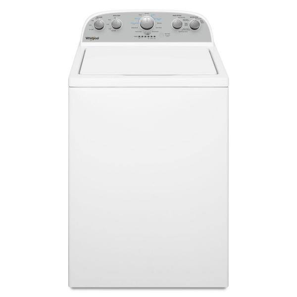 Whirlpool 3.8 cu. ft. High-Efficiency White Top Load Washing Machine with Soaking Cycles