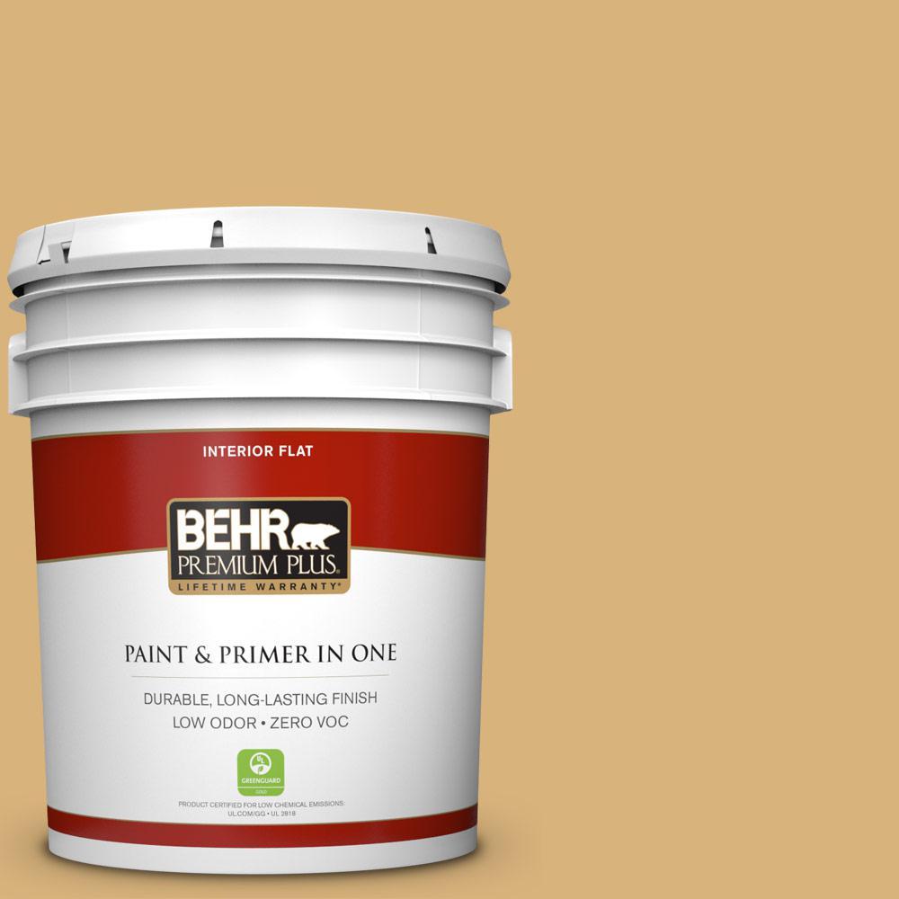 BEHR Premium Plus 5-gal. #M300-4 Gilded Flat Interior Paint