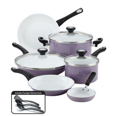 purECOok 12-Piece Lavender Cookware Set with Lids