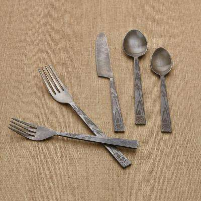Bear Tracks 5-Piece Place Setting Flatware Set