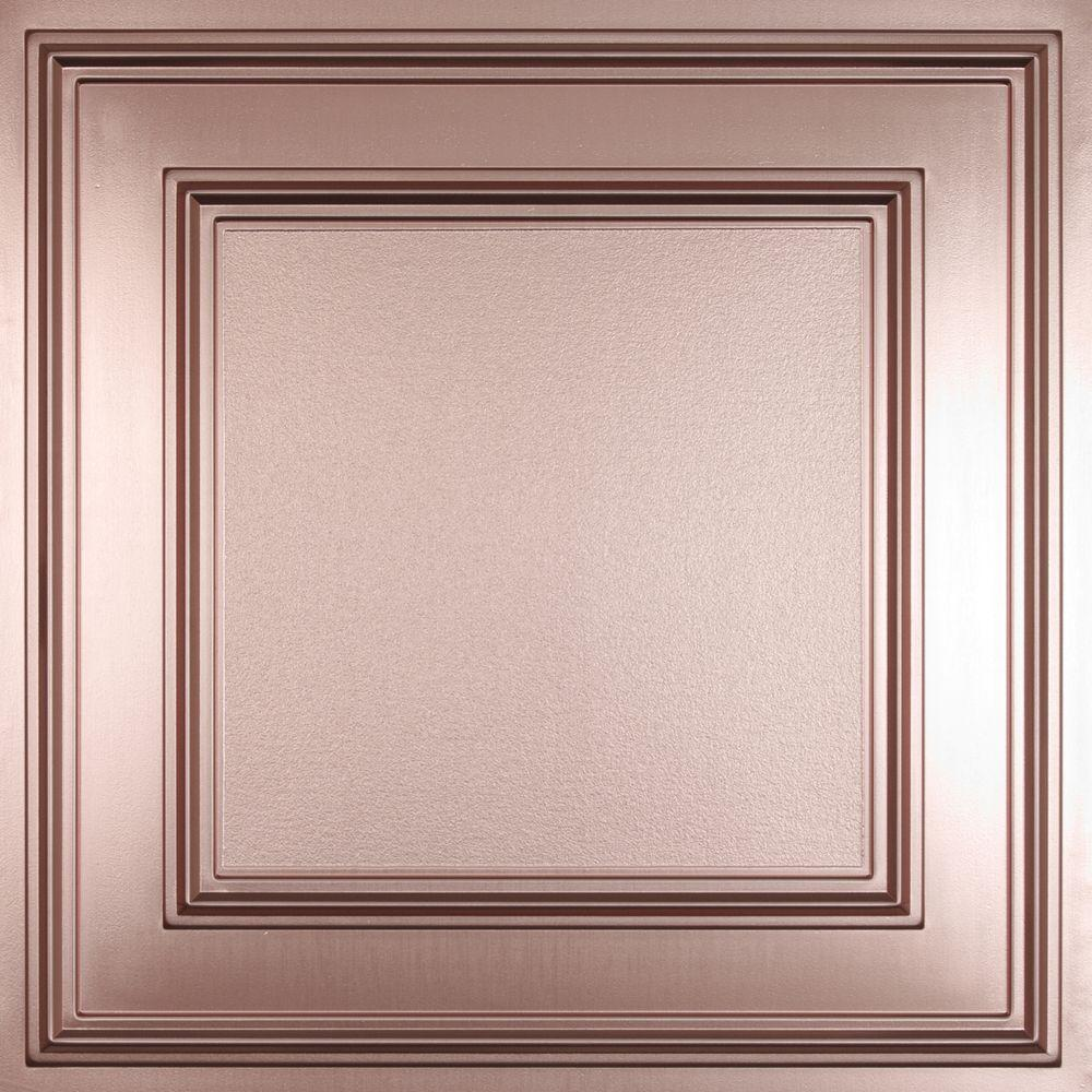 Ceilume Cambridge Faux Copper Evaluation Sample, Not suitable for installation - 2 ft. x 2 ft. Lay-in or Glue-up Ceiling Panel