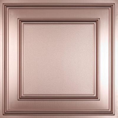 Ceilume Cambridge Faux Copper (Brown) 2 ft. x 2 ft. Lay-in or Glue-up Ceiling Panel (Case of 6)