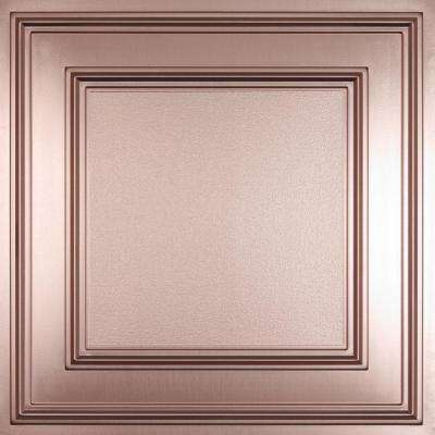 Cambridge Faux Copper 2 ft. x 2 ft. Lay-in or Glue-up Ceiling Panel (Case of 6)