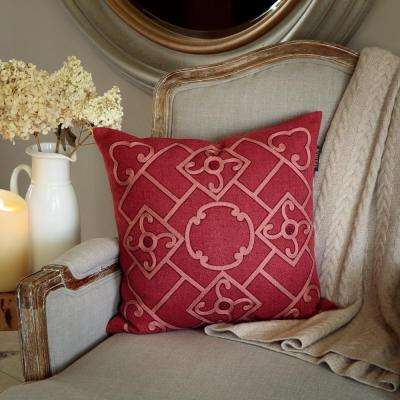 Shinto Lattice 18 in. Square Toss Pillow