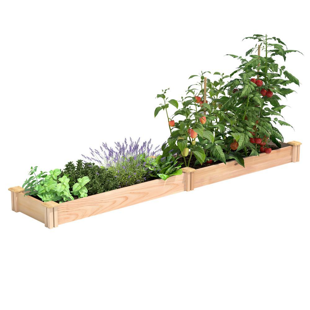 16 in. x 8 ft. x 5.5 in. Premium Cedar Raised Garden Bed