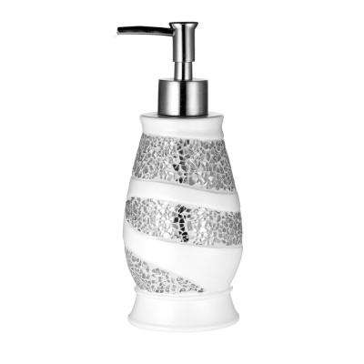Sparkling Lotion Pump in White
