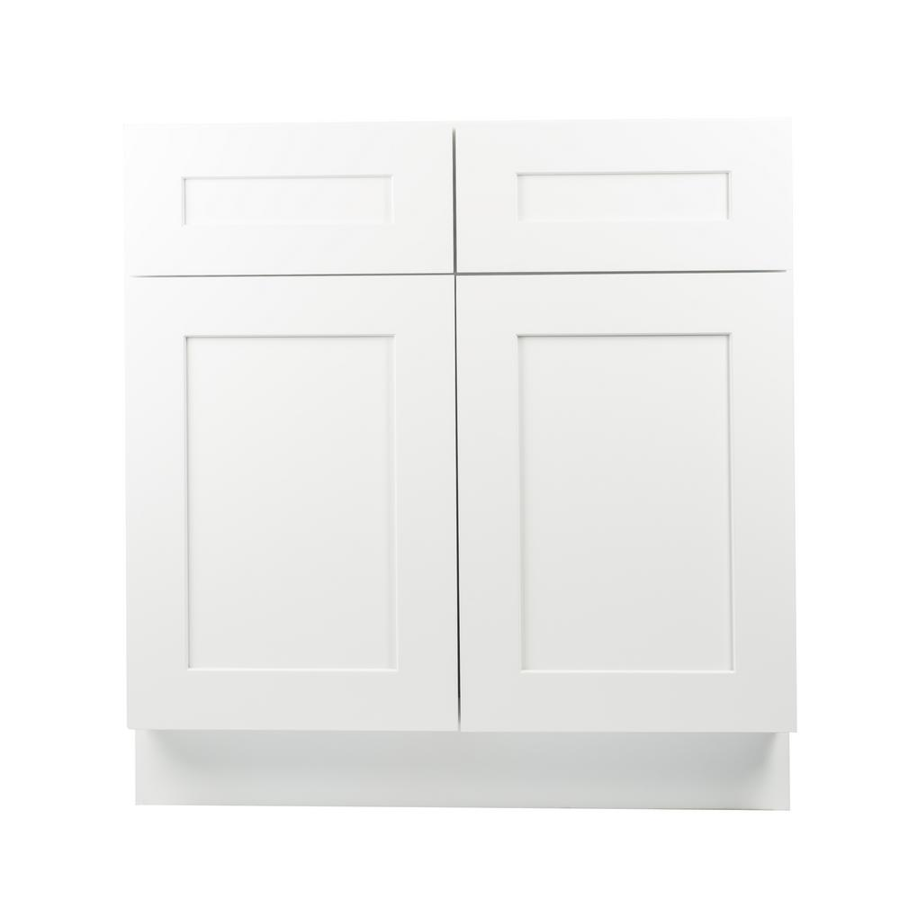 Ready To Assemble Kitchen Cabinets Home Depot: Plywell Ready To Assemble 36x34.5x24 In. Shaker Base