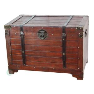 vintiquewise old fashioned wood storage trunk wooden treasure hope