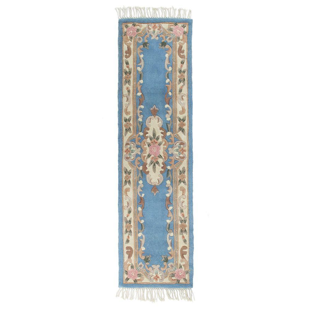 Home decorators collection imperial light blue 2 ft 6 in for Home decorators rugs blue