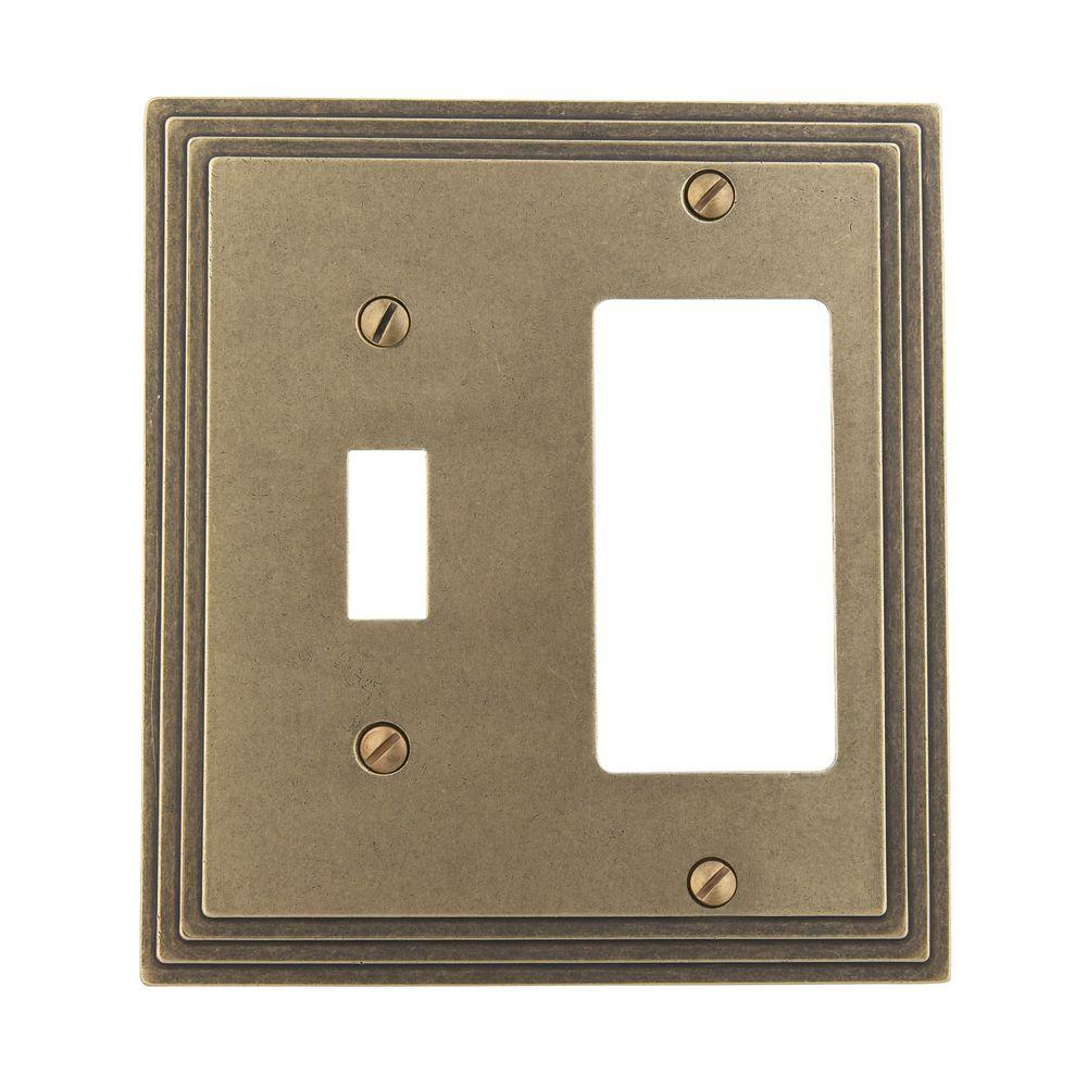 Amerelle Steps 1 Toggle Decora Switch Wall Plate Rustic Br