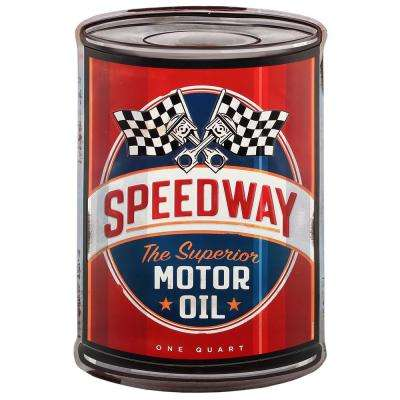 Superior Motor Oil Embossed Curved Tin Decorative Sign
