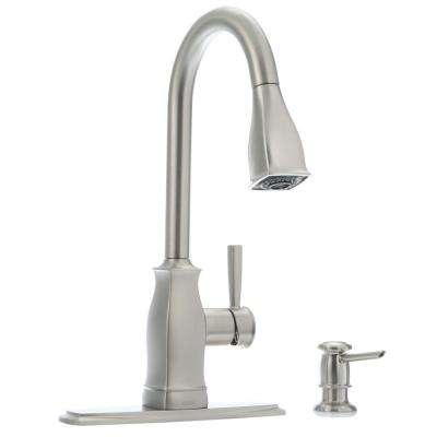 Hensley Single-Handle Pull-Down Sprayer Kitchen Faucet with Reflex and Power Clean in Spot Resist Stainless