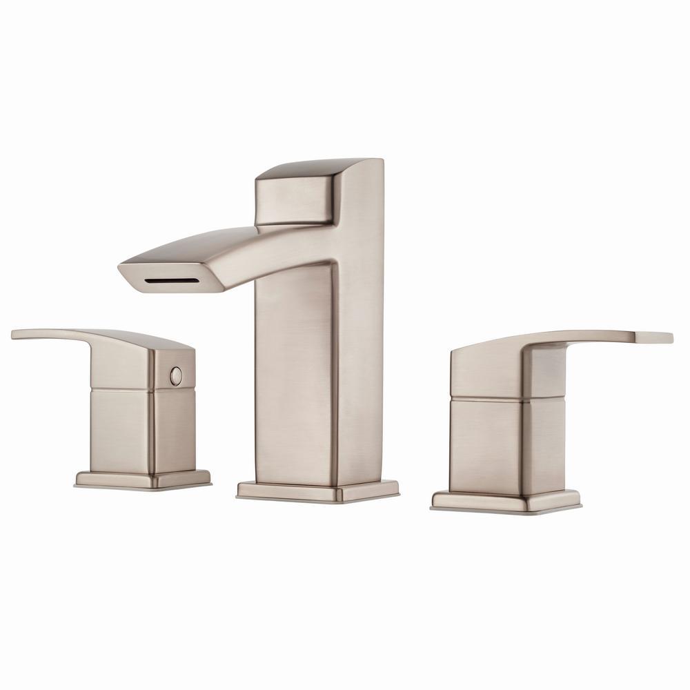 Kenzo 8 in. Widespread 2-Handle Bathroom Faucet in Brushed Nickel