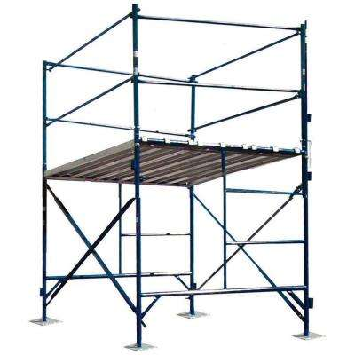 6 ft. x 7 ft. x 5 ft. 1-Story Commercial Grade Scaffold Tower 2,000 lbs. Load Capacity with Guardrail and Base Plates