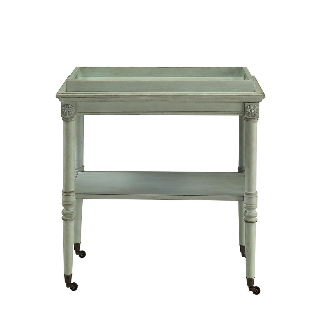 Pleasing Acme Furniture Frisco Tray Table In Antique White 82908 Home Interior And Landscaping Fragforummapetitesourisinfo