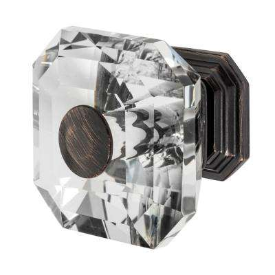 Clubhouse 1-5/16 in. Oil Rubbed Bronze with Clear Crystal Cabinet Knob