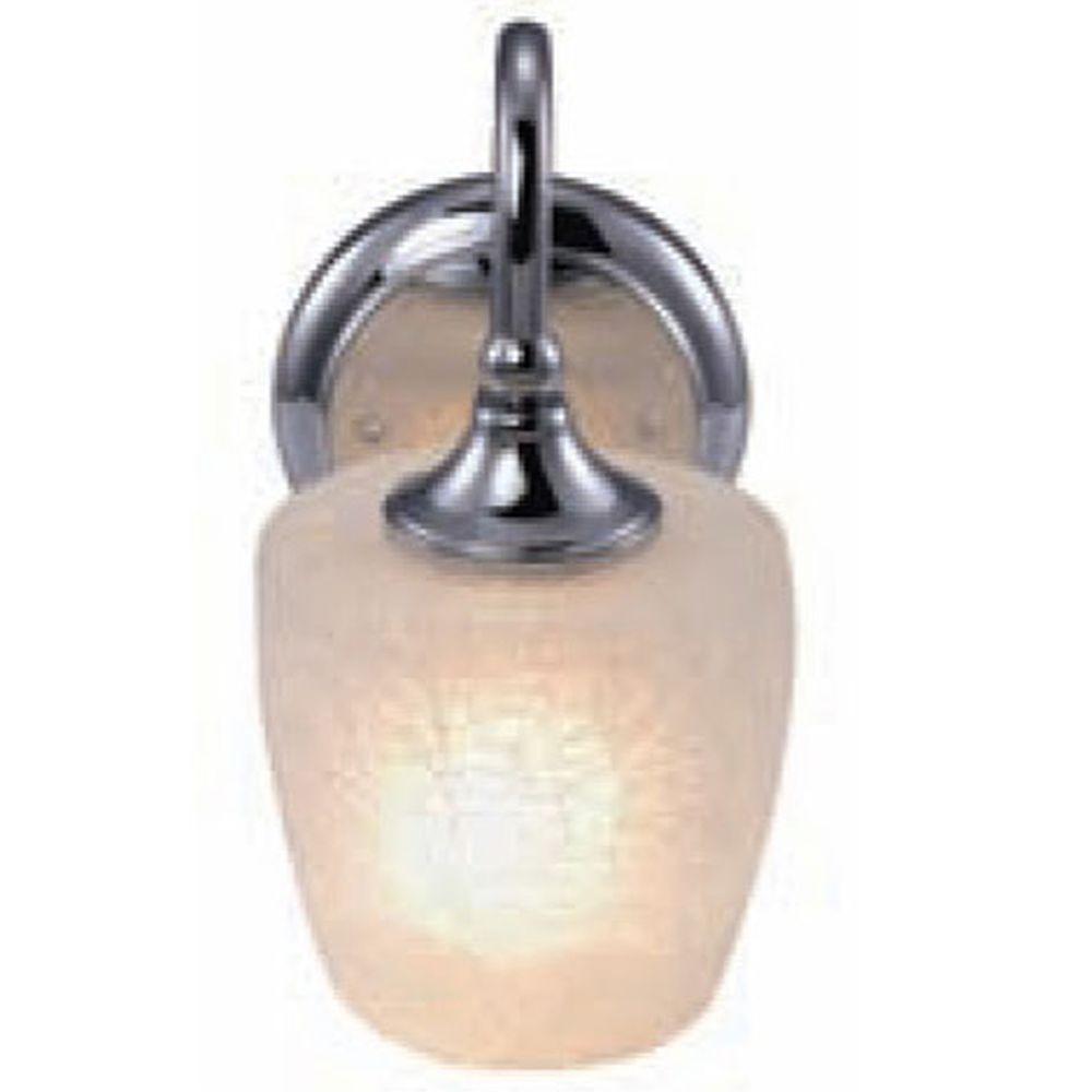 Crackle Glass Vanity Light : Yosemite Home Decor Vanity Lighting Family 1-Light Chrome Frame Bathroom Vanity Light with ...