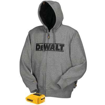 Unisex Small Gray 20-Volt MAX Heated Hoodie