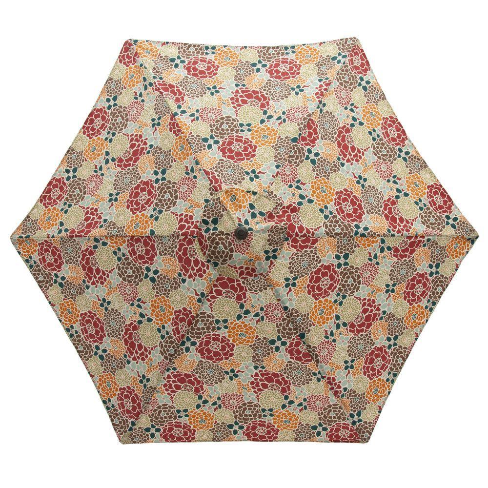 null 9 ft. Aluminum Patio Umbrella in Lois Floral-DISCONTINUED