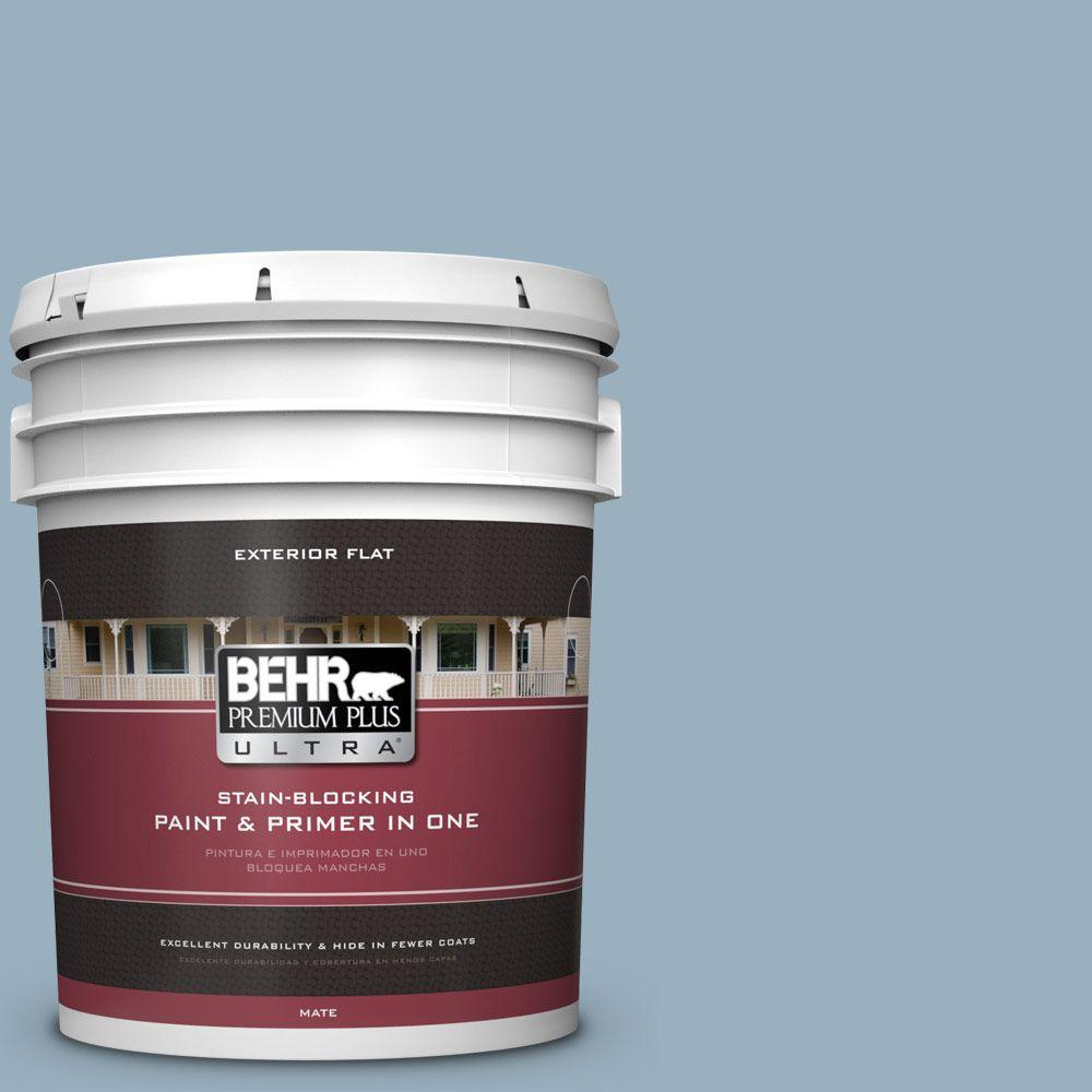 Home Decorators Collection 5-gal. #HDC-CT-24 Rainy Sidewalk Flat Exterior Paint