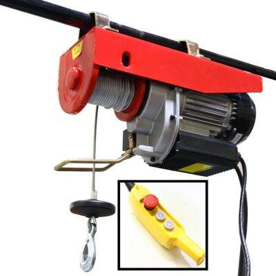 1500 lbs. Professional Electric Steel Cable Hoist with Remote Control