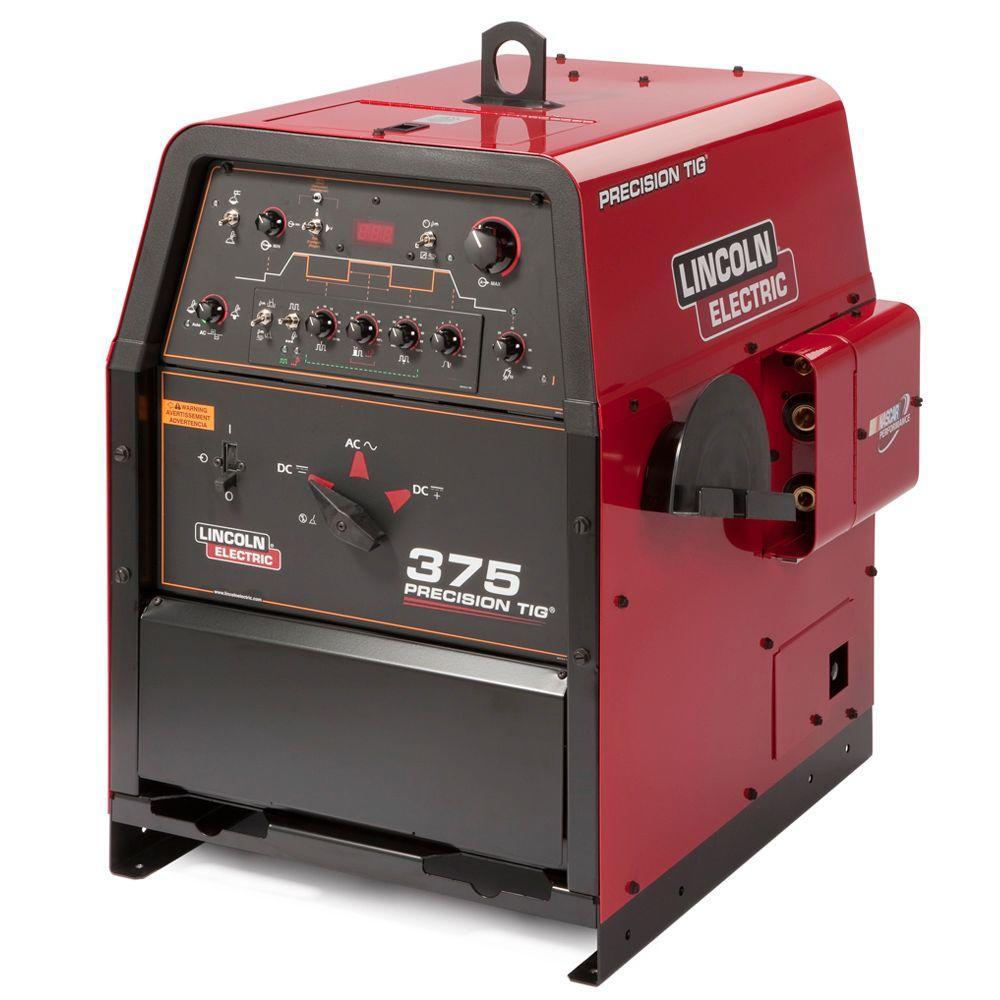 Lincoln Electric 420 Amp Precision TIG 375 TIG Welder, Single Phase,  208V/230V