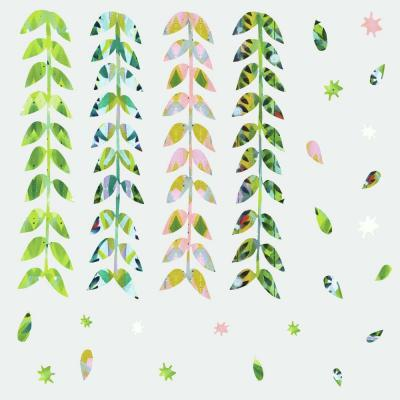 Multi-Colored Painterly Floral Clustered Giant Peel and Stick Wall Decals