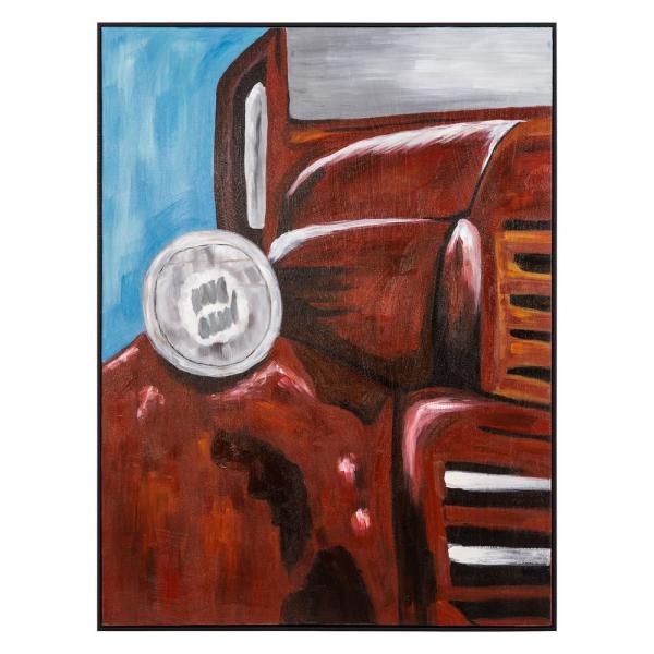 ''Old Red'' by Blake Henkel Framed Canvas Wall Art