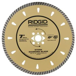 Ridgid 7 inch Diamond Stone Blade for Cutting Granite, Marble and Hard Stone by RIDGID