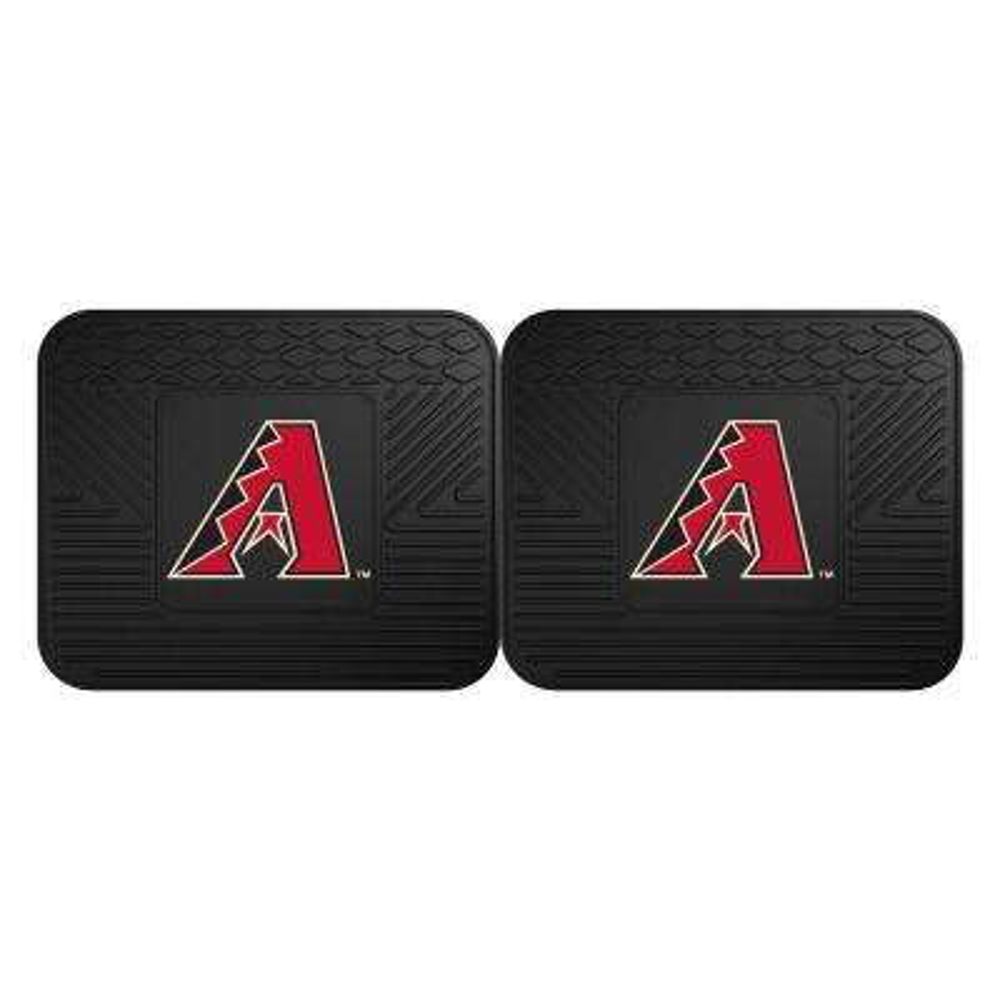MLB Arizona Diamondbacks Black Heavy Duty 2-Piece 14 in. x 17 in. Vinyl Utility Mat